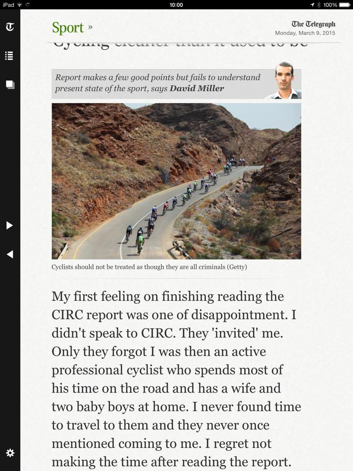 David Millar's CIRC response