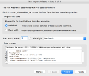 Excel import dialog #1