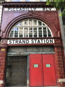 The defunct Strand station that became the now defunct Aldwych tube station